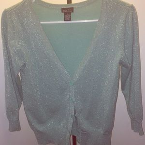 Green sparkly cardigan